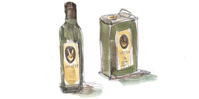illustrazione olio dell'Agriturismo Testalepre